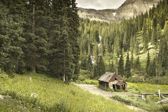 Old Ouray Colorado Mining Cabin Royalty Free Stock Photos