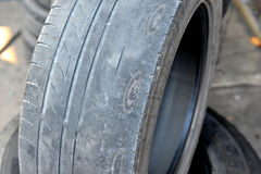 Old and out of date tire Royalty Free Stock Photography