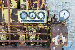 An old outdated diesel engine Royalty Free Stock Photos