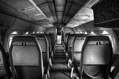 Old outdated passenger air inside Stock Photo
