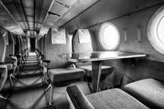 Old outdated passenger air inside Royalty Free Stock Photography