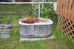 Old outdoor air conditioner royalty free stock images