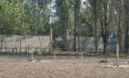 Old outdoor arena for horse riding Stock Photo