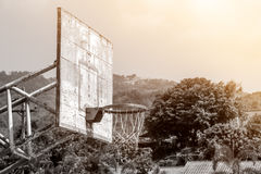 Old outdoor basketball backboard Royalty Free Stock Images