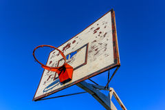 Old outdoor basketball hoop Stock Photos