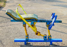 Old outdoor exercise equipment. In the park royalty free stock photography
