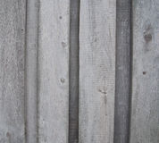 Old outdoor gray wooden wall Stock Photography