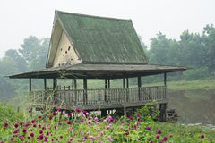 Old outdoor pavilion Stock Photo