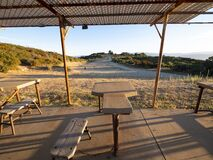 Old Outdoor Shooting Range Rifle Station Stock Image