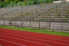 Old outdoor sport auditorium Royalty Free Stock Images