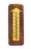 Old outdoor thermometer isolated. Stock Images