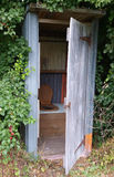 Old Outhouse Stock Photo