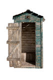 Old Outhouse (With Clipping Path) Royalty Free Stock Image