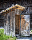 Old outhouse Stock Images
