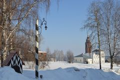 Old outpost in Cherdyn Russia. Royalty Free Stock Image