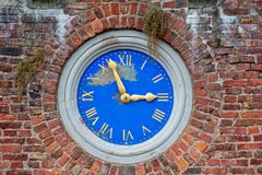 Old Outside Built In Wall Clock Stock Image Image Of Time Architecture 125110249