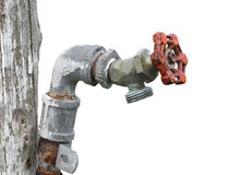 Old outside water tap isolated Royalty Free Stock Photos