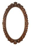 Old oval bronze frame Royalty Free Stock Photography
