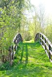 Old oval wooden bridge 2 Royalty Free Stock Photo