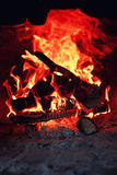 Old oven with flame fire Royalty Free Stock Photography