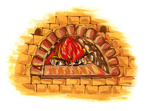 Old oven isolated Royalty Free Stock Photos