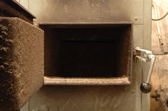 Old oven's door Royalty Free Stock Photography