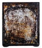Old oven tray. Old dirty oven tray isolated on white background Stock Photos