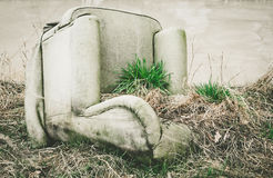 Old overturned armchair Royalty Free Stock Photo