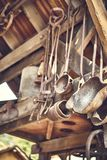 Old and oxide tools in a farm.  royalty free stock photos