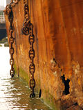 Old oxidized chains Stock Image