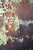 Old Oxidizing Rusty Metal Peeling Paint Texture Background royalty free stock photos