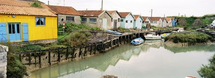 Winter Old Oyster Sheds Stock Image