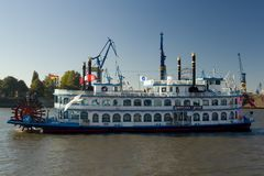 Old Paddle-steamer Louisiana Star in Hamburg Stock Photography