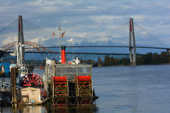 Old Padllewheeler on Fraser River Royalty Free Stock Photography