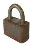 Old padlock. Isolated on white background Royalty Free Stock Photos