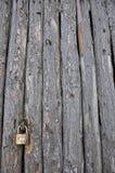Old padlock on the barn Stock Photos