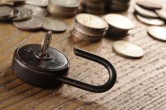 Old padlock close-up Royalty Free Stock Photo