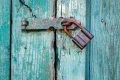 Old padlock closeup. Royalty Free Stock Photography