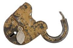 Old padlock isolated on white Royalty Free Stock Image