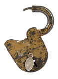 Old padlock isolated on white Royalty Free Stock Photo