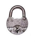 Old padlock with key Stock Photos