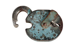 Old padlock with key Royalty Free Stock Image
