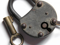 Old padlock and key Royalty Free Stock Image