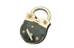 Old padlock and key Royalty Free Stock Photography