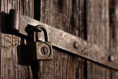 Old padlock Stock Images
