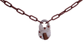 Free Old Padlock On Rusty Chain Stock Photography - 30652712