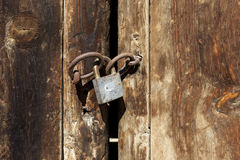 The old padlock Royalty Free Stock Photos