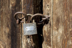 The old padlock Stock Photo