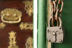 Old padlock treasure chest Stock Photo