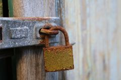 Old padlock royalty free stock photography